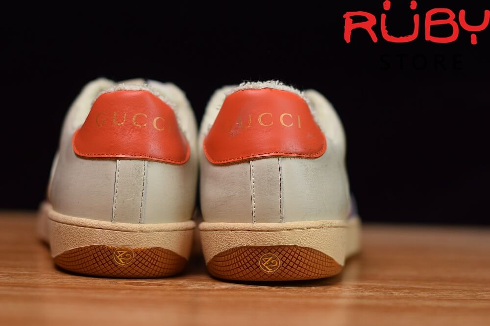 Giày-Gucci-Screener-Leather-Sneaker-Replica 1.1-trắng-xanh-cam-nâu (1)