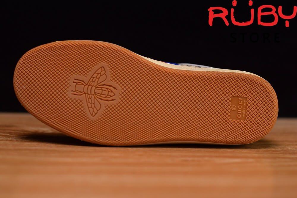 Giày-Gucci-Screener-Leather-Sneaker-Replica 1.1-trắng-xanh-cam-nâu (6)
