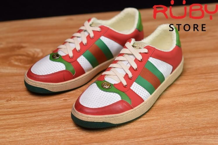 giày-gucci-Screener-Leather-Sneaker(đỏ)2019 (1)