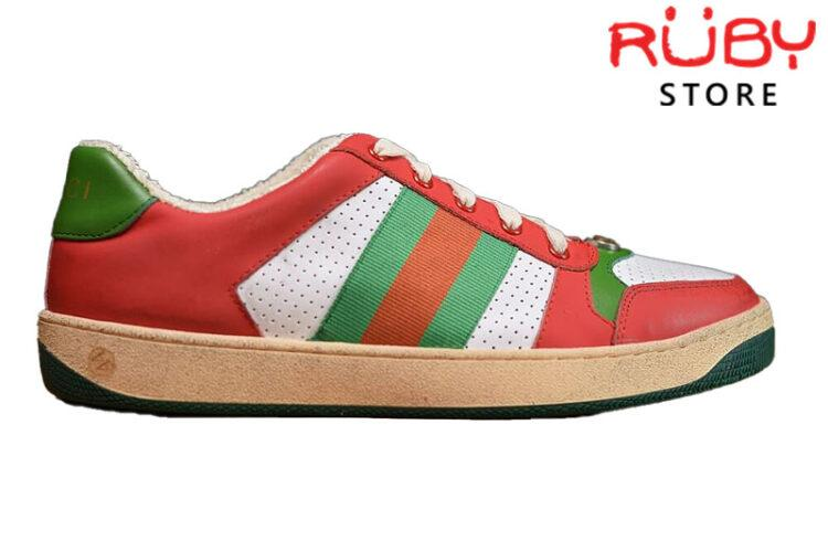 Giày Gucci Screener Leather Sneaker Replica 1:1 (Đỏ) 2019