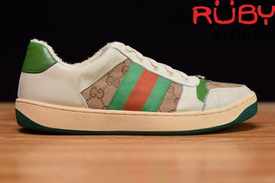 giày-gucci-Screener-Leather-Sneaker(trắng xanh lá gucci)2019 (1)