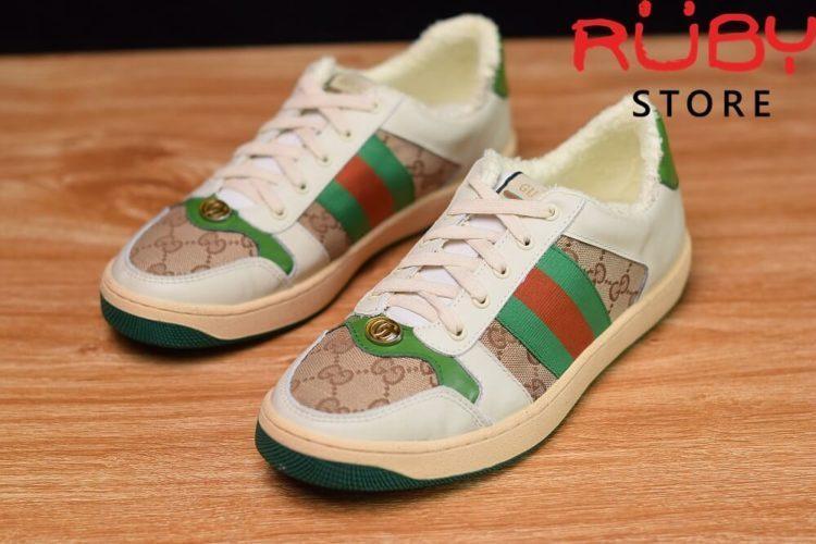 giày-gucci-Screener-Leather-Sneaker(trắng xanh lá gucci)2019 (3)