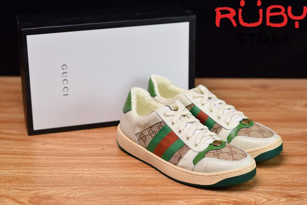 giày-gucci-Screener-Leather-Sneaker(trắng xanh lá gucci)2019 (8)