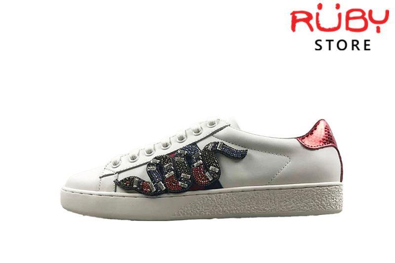 Giày Gucci Rắn Đính Đá Replica 1:1