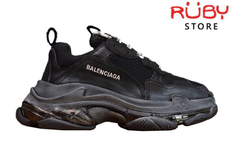 Giày Balenciaga Triple S Clear Sole Black Like Real 99,9% (Bản Best)