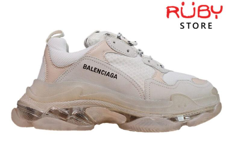 Giày Balenciaga Triple S Trắng - White Clear Sole Like Real 99,9% (Bản Best)