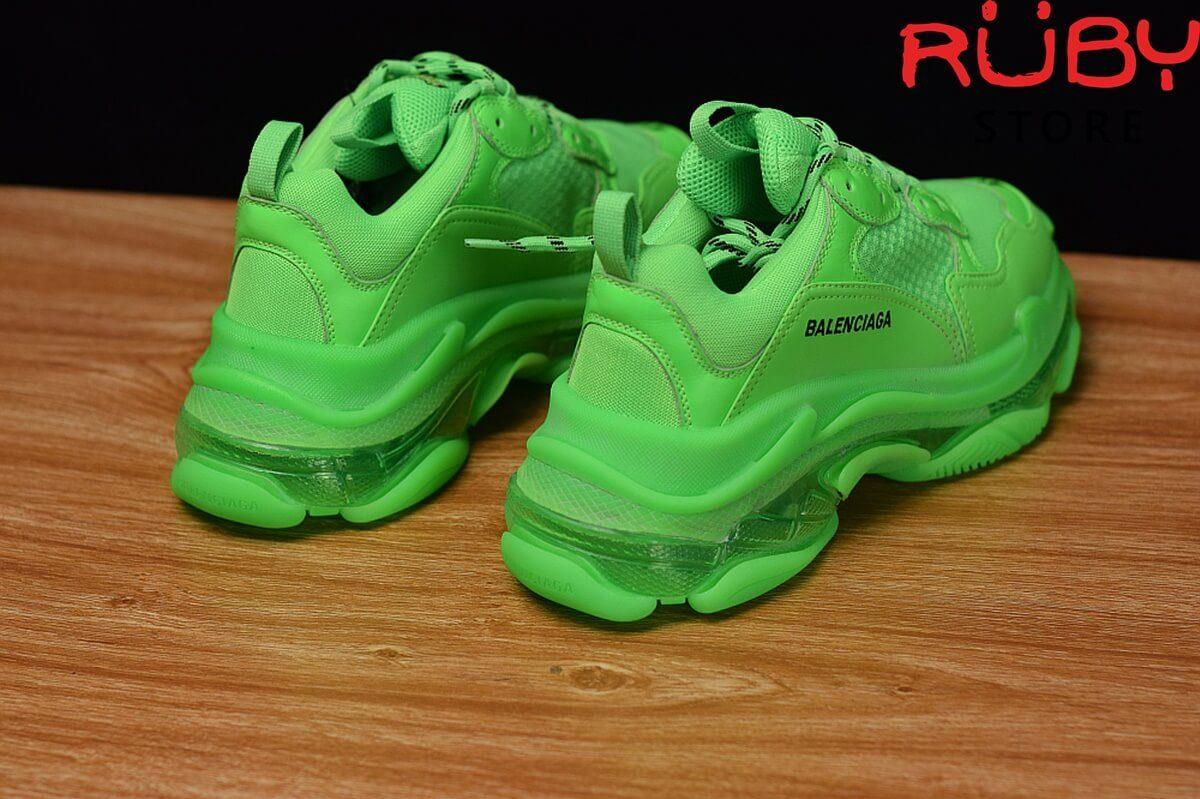 Midsole giày Balenciaga Triple S xanh lá cao cấp