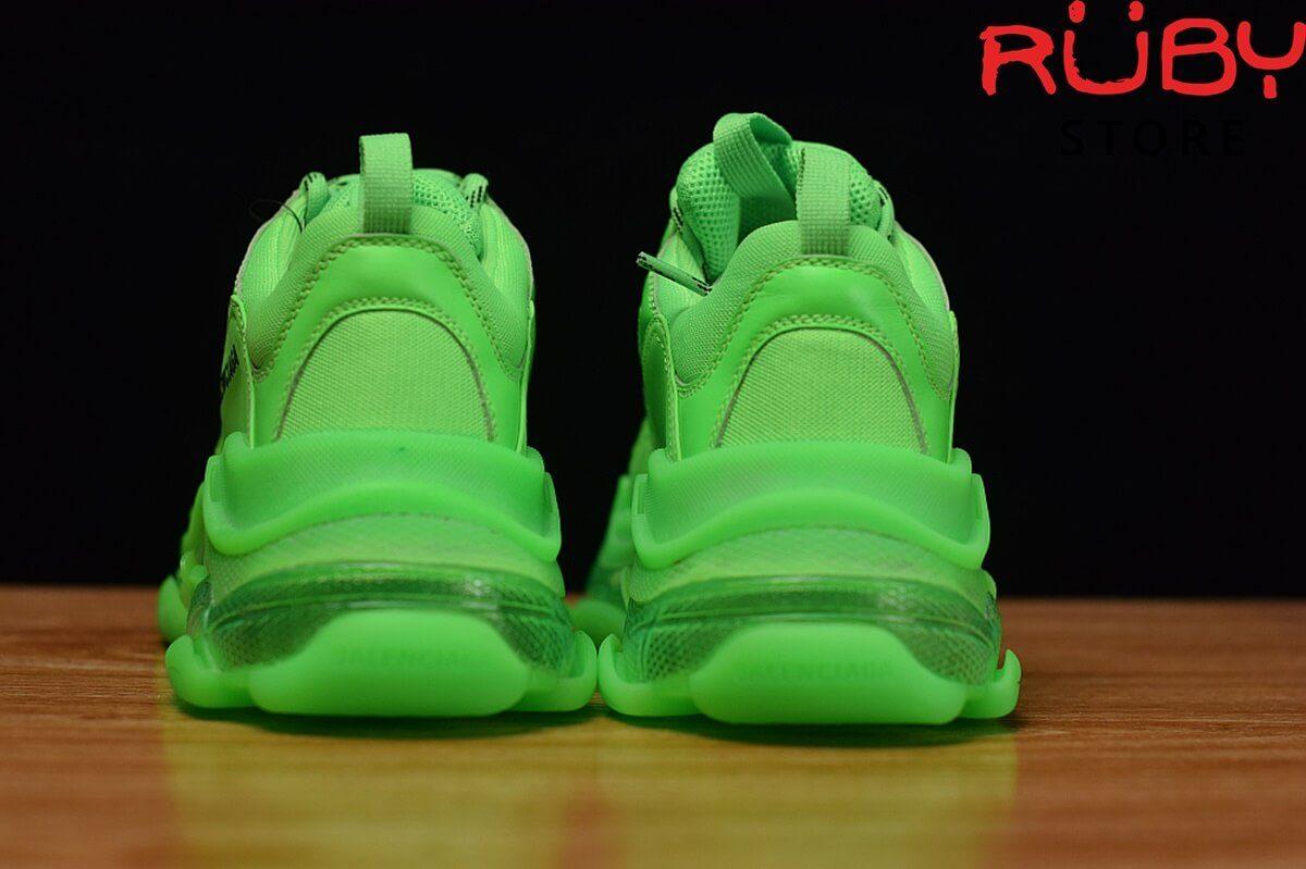 Phần gót giày Balenciaga Triple S xanh lá cao cấp