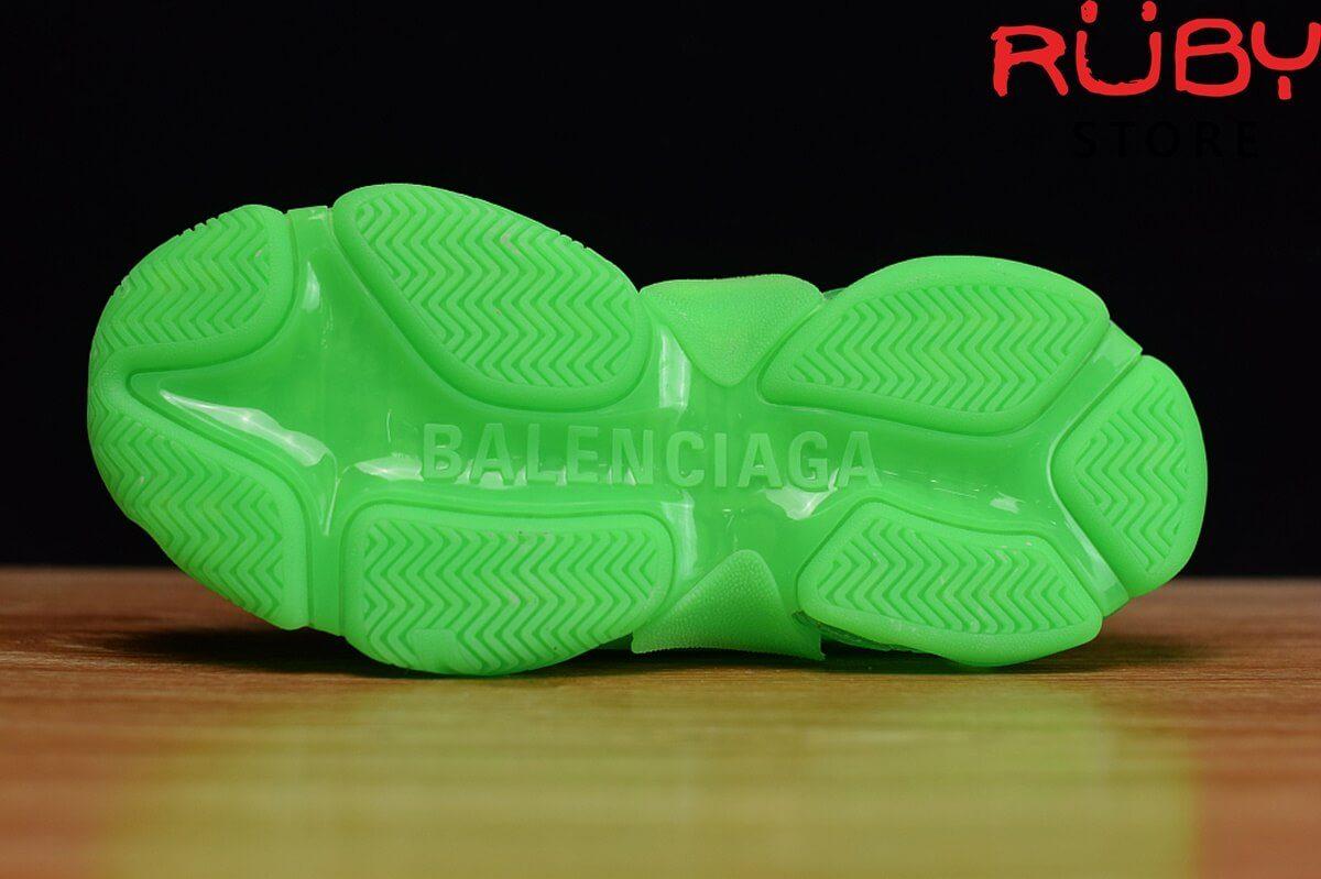 Phần đế giày Balenciaga Triple S xanh lá cao cấp