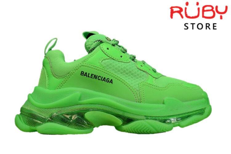 Giày Balenciaga Triple S Clear Sole Green Like Real 99,9% (Bản Best)