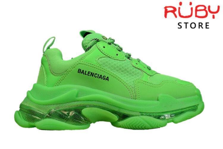 Giày Balenciaga Triple S Clear Sole Green Like Real 99,9% (Bản Best)