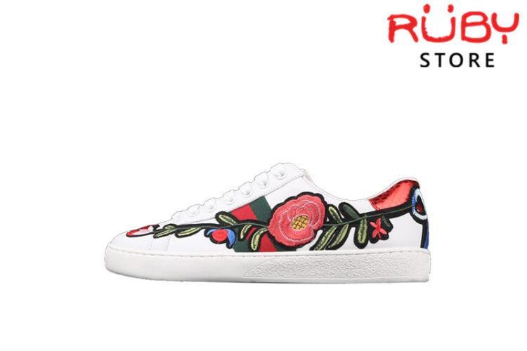 Giày Gucci Thêu Hoa Replica 1:1