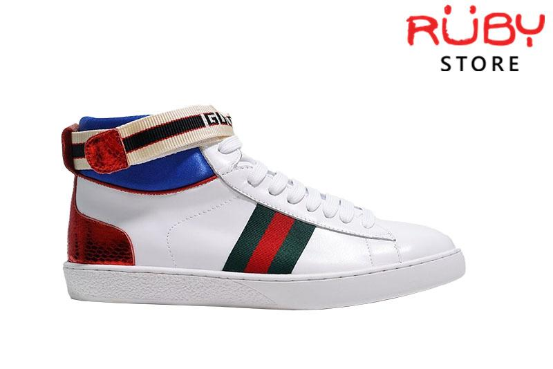 Giày Gucci Stripe Ace High Top Sneaker