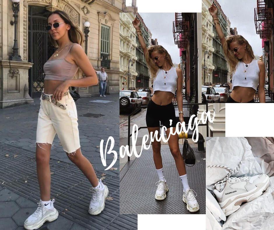 Diện giày Balenciaga Triple S đi dạo phố