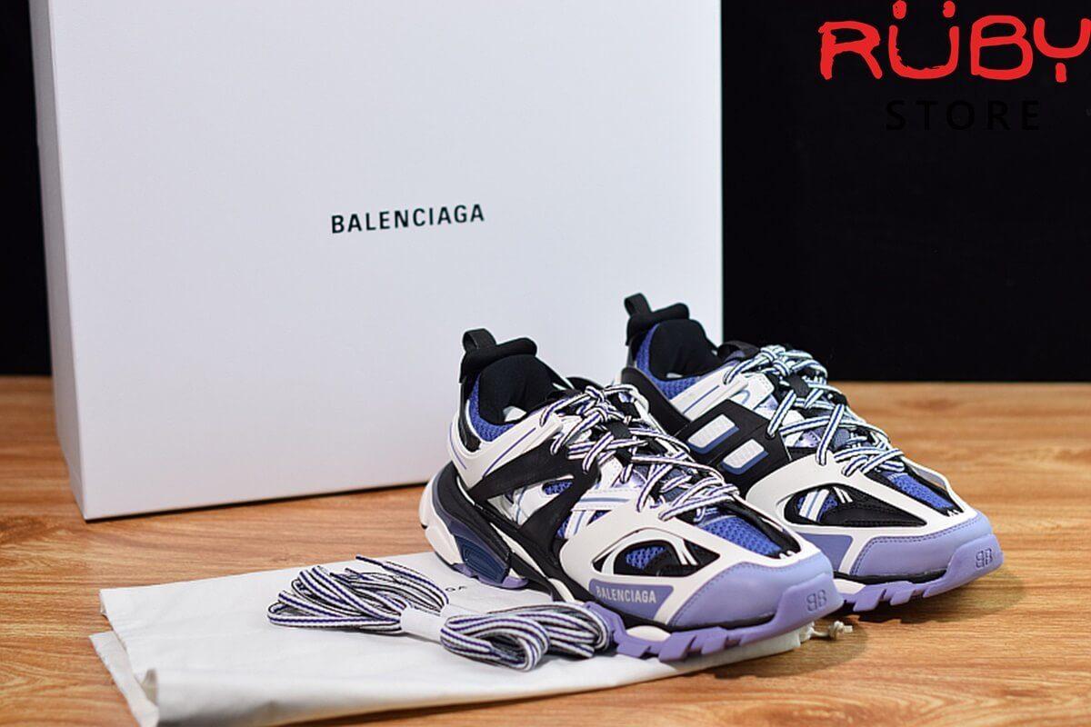 giày balenciaga track trắng tím 2019