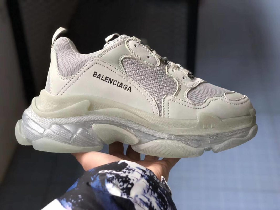Balenciaga Triple S Clear Sole Trainers bản White