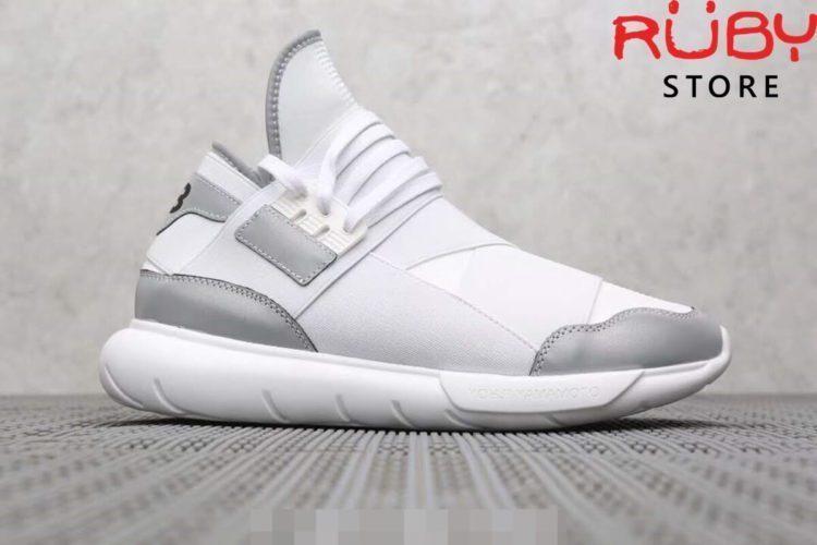giày y3 qasa high sneakers 2019 trắng xám replica 1.1
