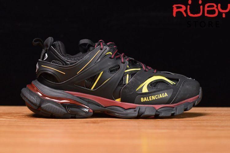 giày balencaga track đen đỏ vàng siêu cấp 2019