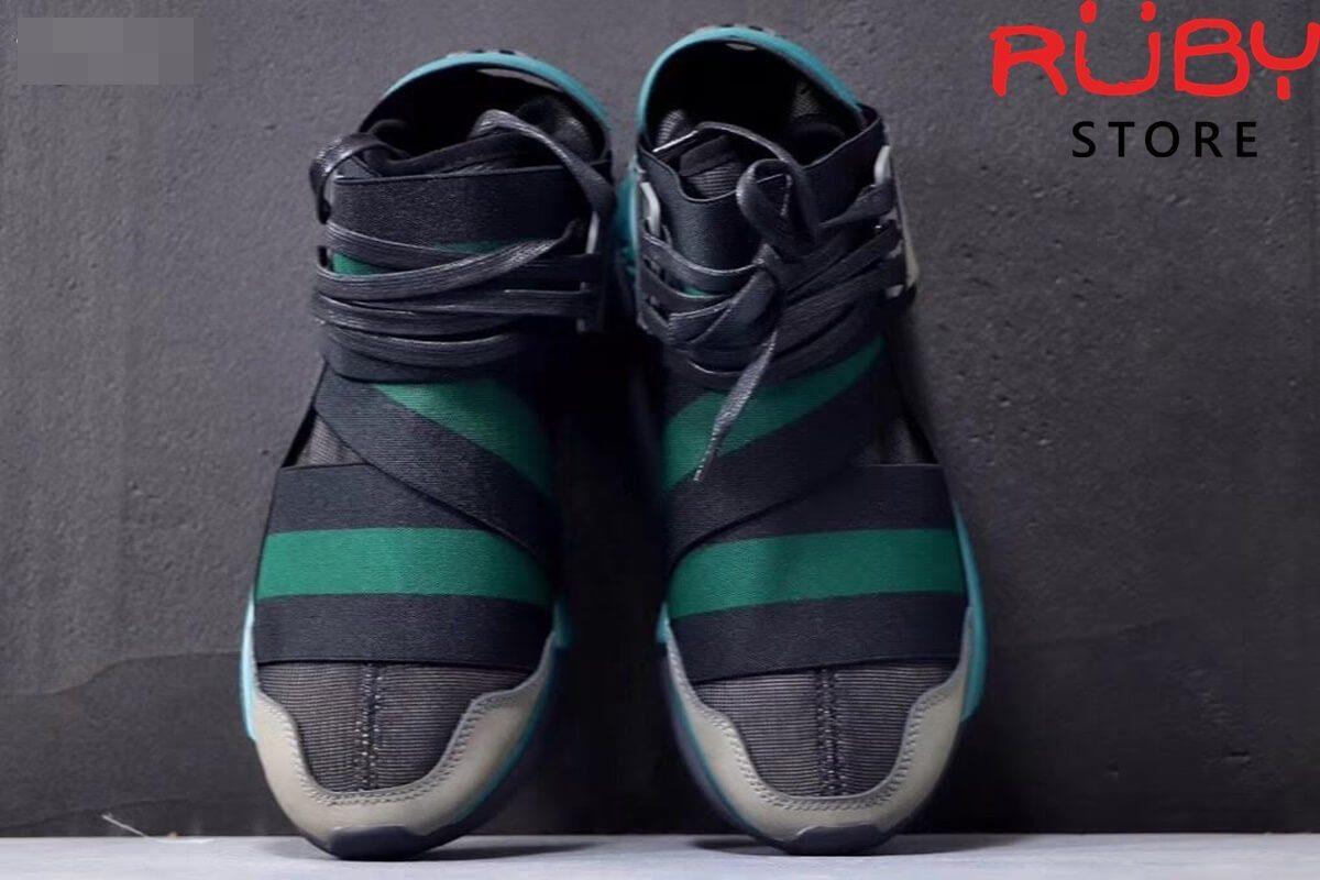 giày y3 qasa high sneakers 2019 đen xanh replica 1.1