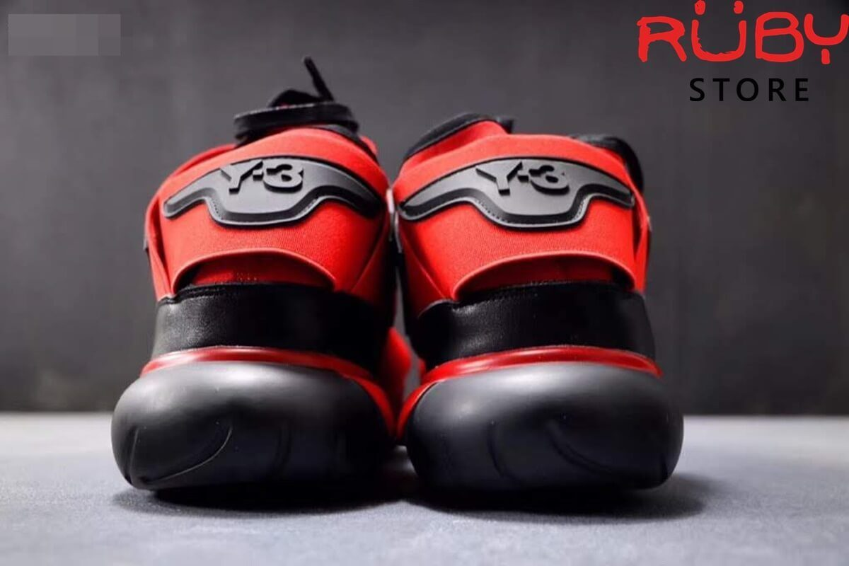 giày y3 qasa high sneakers 2019 đỏ đen replica 1.1