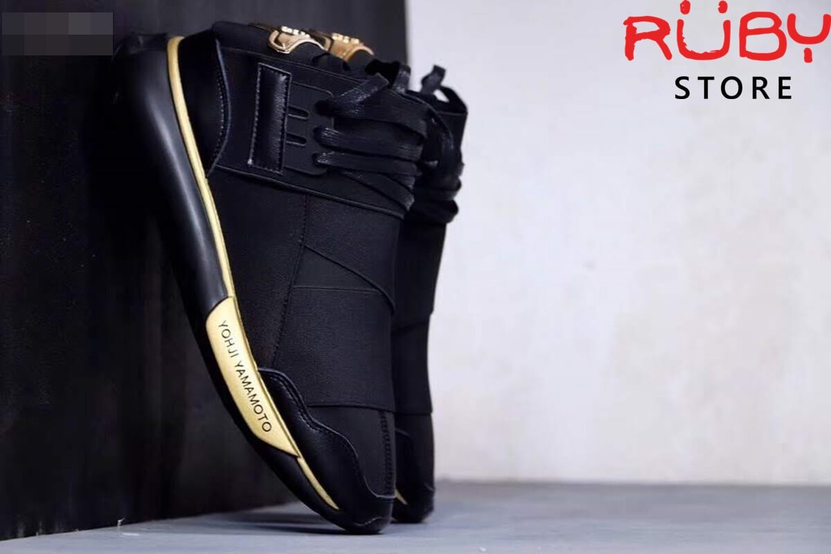 giày y3 qasa high sneakers 2019 replica 1.1 đen vàng
