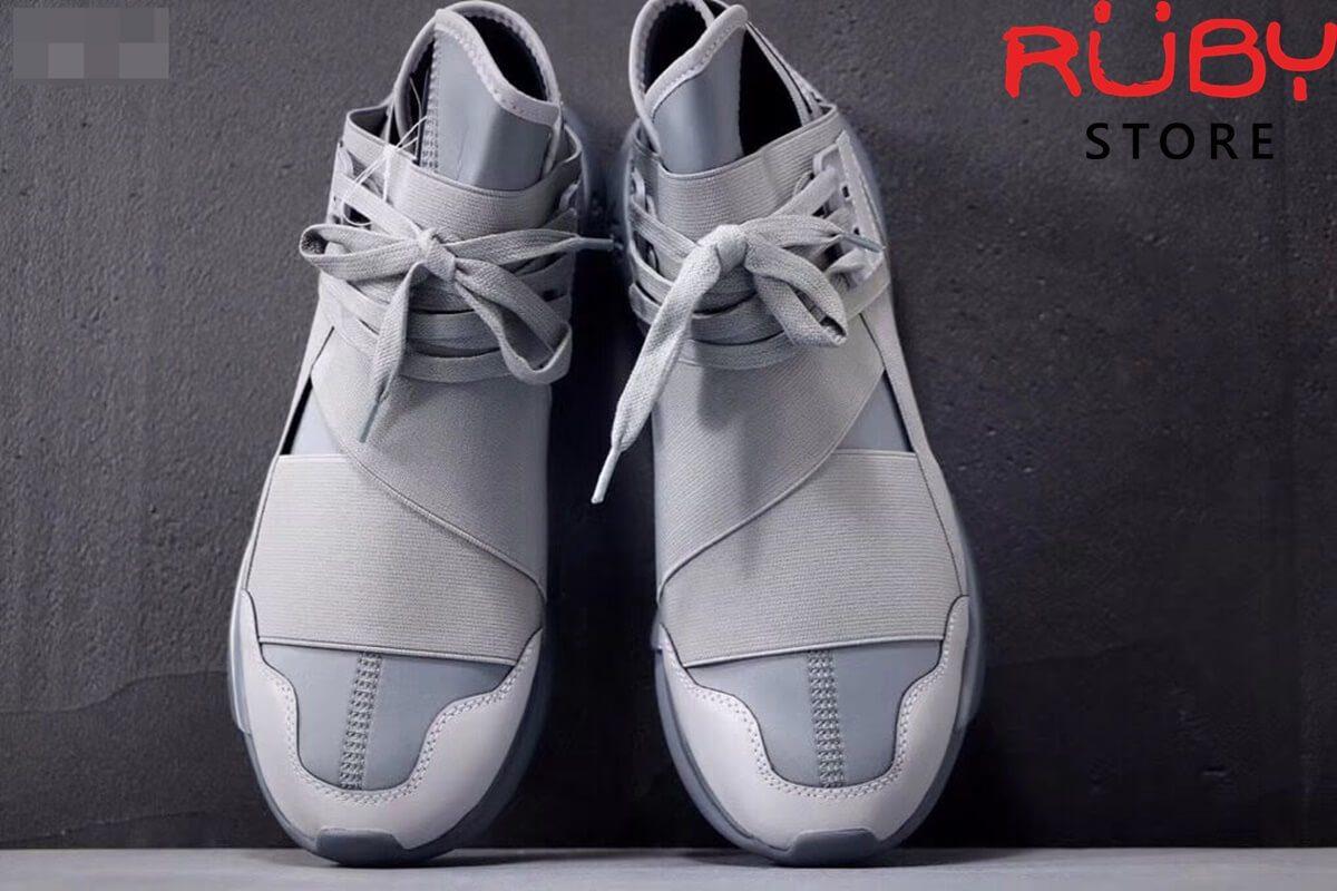 giày y3 qasa high sneakers 2019 xám phản quang replica 1.1