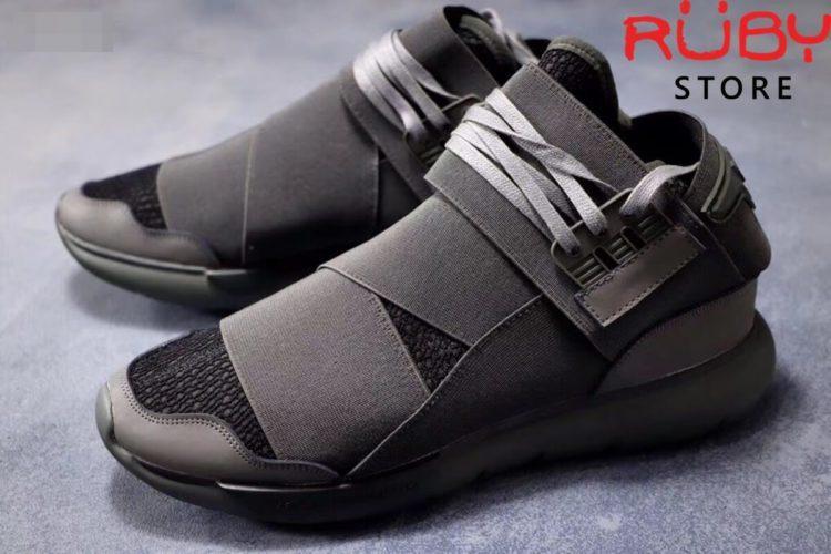 giày y3 qasa high sneakers 2019 xám vân đen replica 1.1