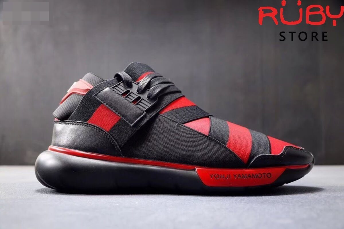 giày y3 qasa high sneakers 2019 replica 1:1 đen đỏ