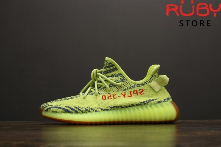 giày yeezy 350 v2 semi frozen yellow pk god