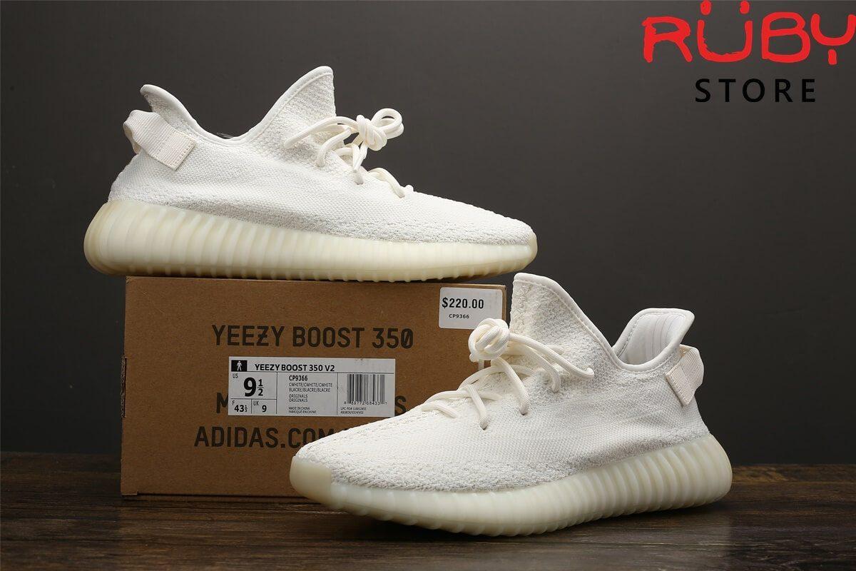 giày yeezy 350 v2 triple white pk god