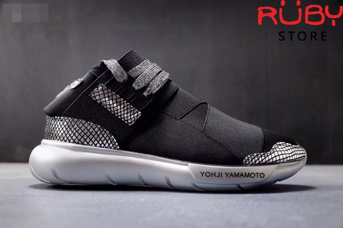 giày y3 qasa high sneakers replica 1:1 đen da rắn