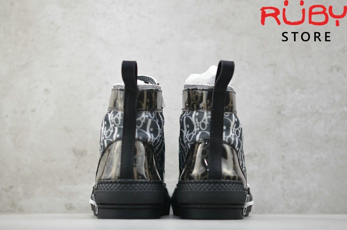 giày dior b23 high top sneaker in dior oblique đen