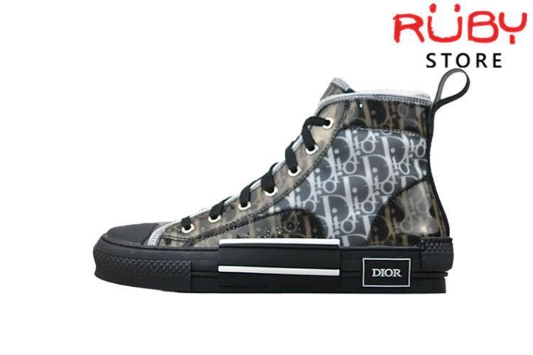 Giày Dior B23 High Top Sneaker In Dior Oblique Replica 1:1 Đen