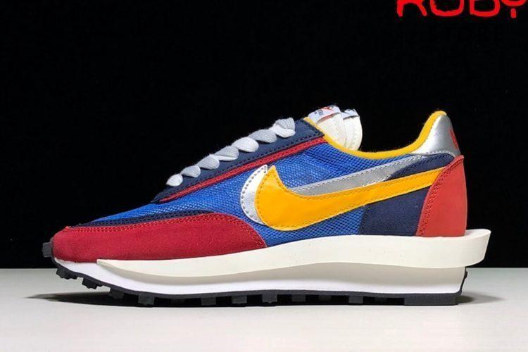 Giày Sacai Nike LD Waffle Đỏ Xanh Best
