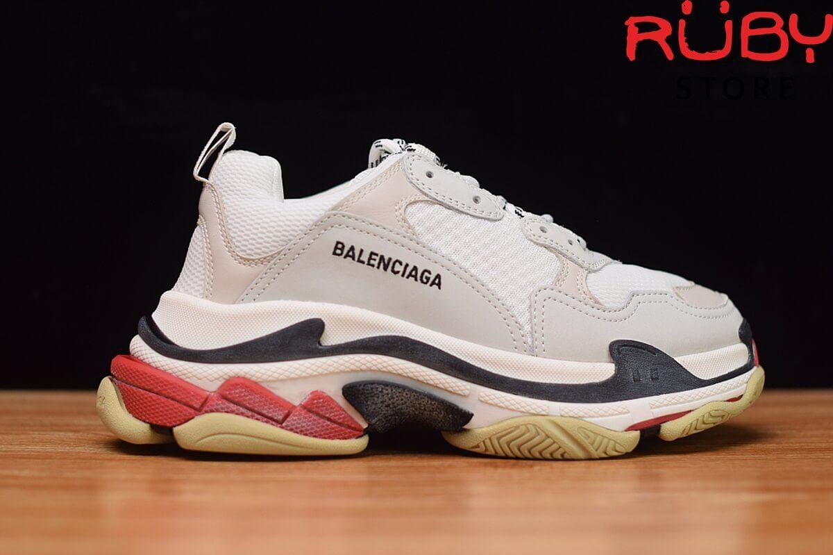 giày balenciaga triple s trắng đỏ like Real 99,9%