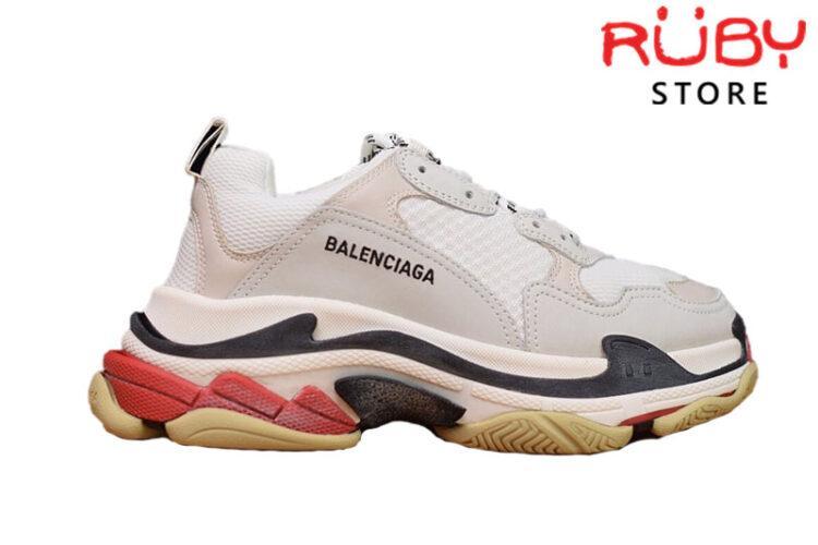 Giày Balenciaga Triple S Trắng Đỏ Replica 1:1 (Best Like Real 99,9%)