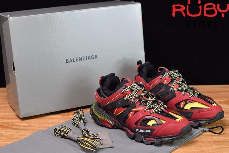 giày balenciaga track đỏ đen siêu cấp