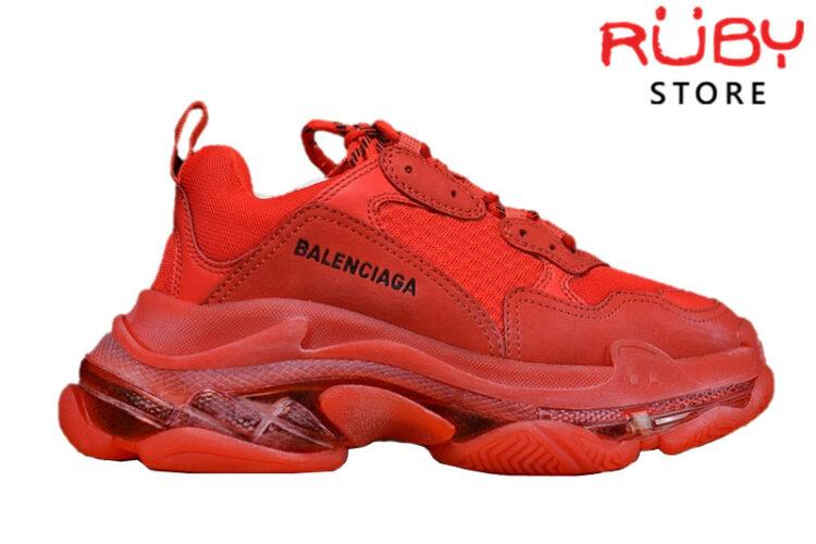 Giày Balenciaga Triple S Clear Sole Red Like Real 99,9% (Bản Best)