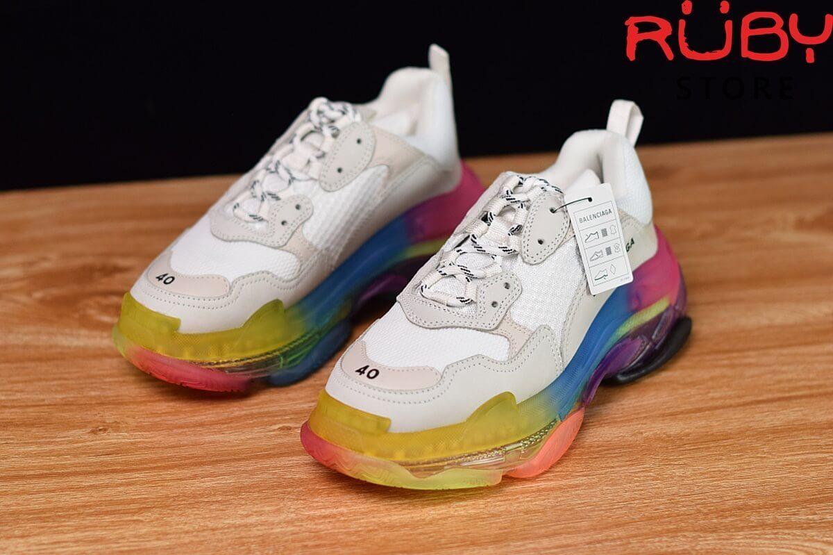giày balenciaga triple s đế 7 màu like real 99,9 % - tổng thể