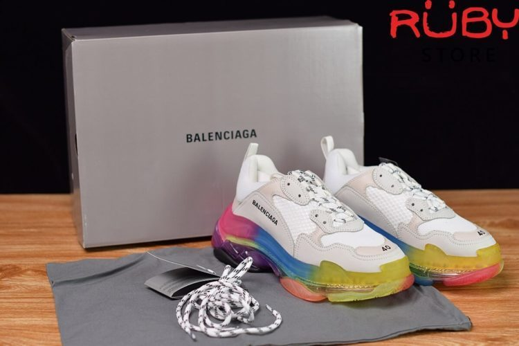 giày balenciaga triple s clear sole trắng 7 màu like real 99,9 %