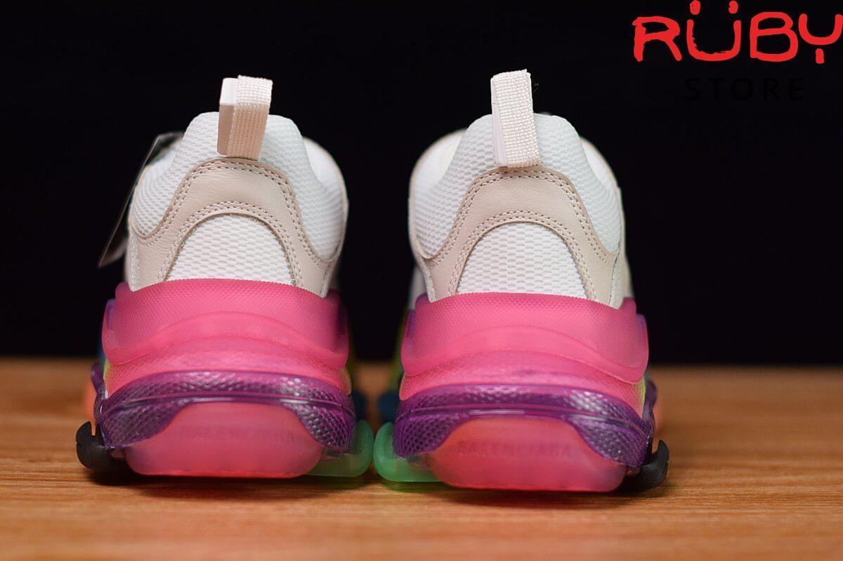 Phần gót giày balenciaga triple s trắng 7 màu