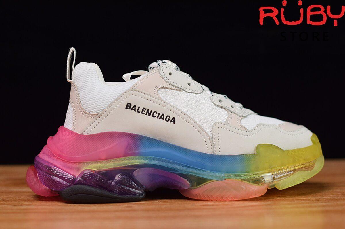 giày balenciaga triple s đế 7 màu cầu vòng - mặt phải