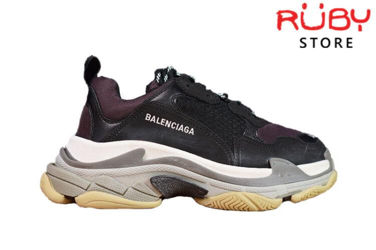 Giày Balenciaga Triple S Đen Tím Replica 1:1 (Best Like Real 99,9%)
