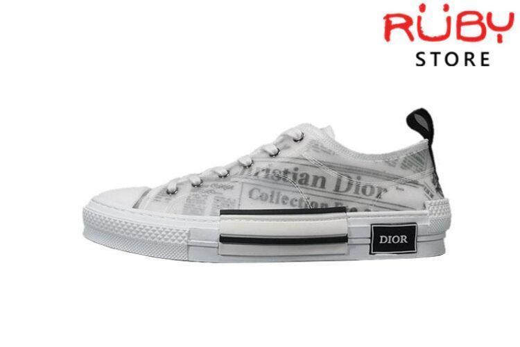 Giày Dior B23 Low Top Daniel Asham Newspaper Replica 1:1