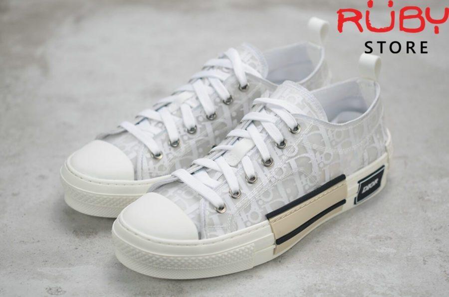 giày dior b23 low top dior oblique sneaker trang full