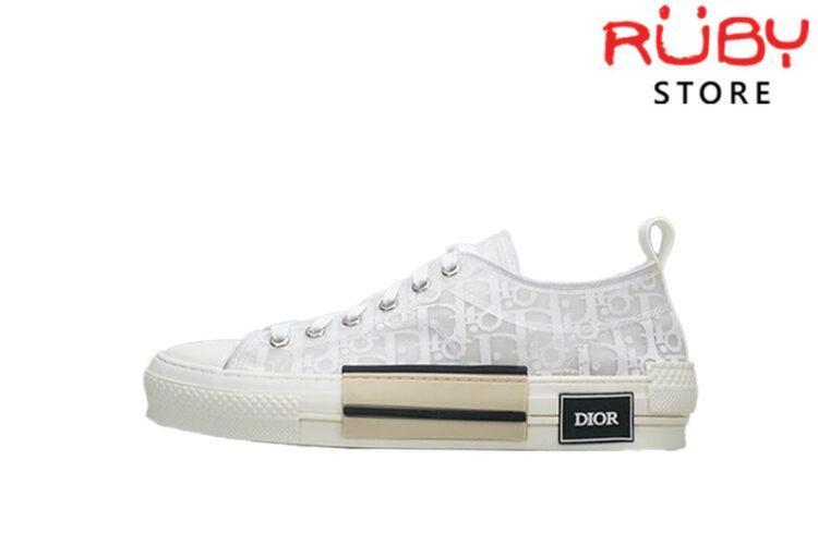 Giày Dior B23 Low Top Dior Oblique Sneaker Replica 1:1 Trắng Full