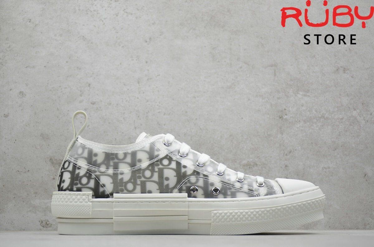 giày dior b23 low top dior oblique sneaker trắng ngà