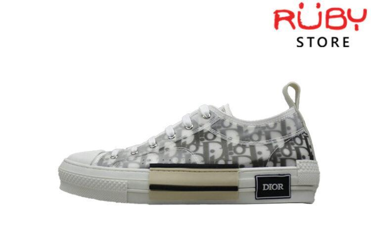 Giày Dior B23 Low Top Dior Oblique Sneaker Replica 1:1 Trắng Ngà
