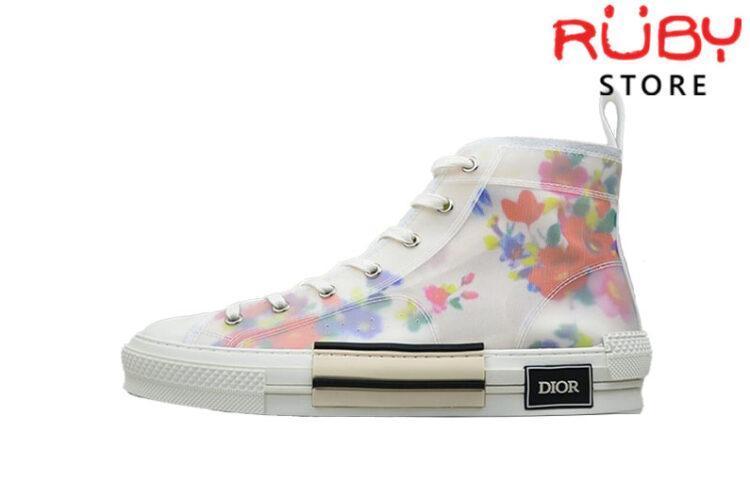 Giày Dior High Flowers Technical Canvas B23 High Top Sneaker Replica 1:1