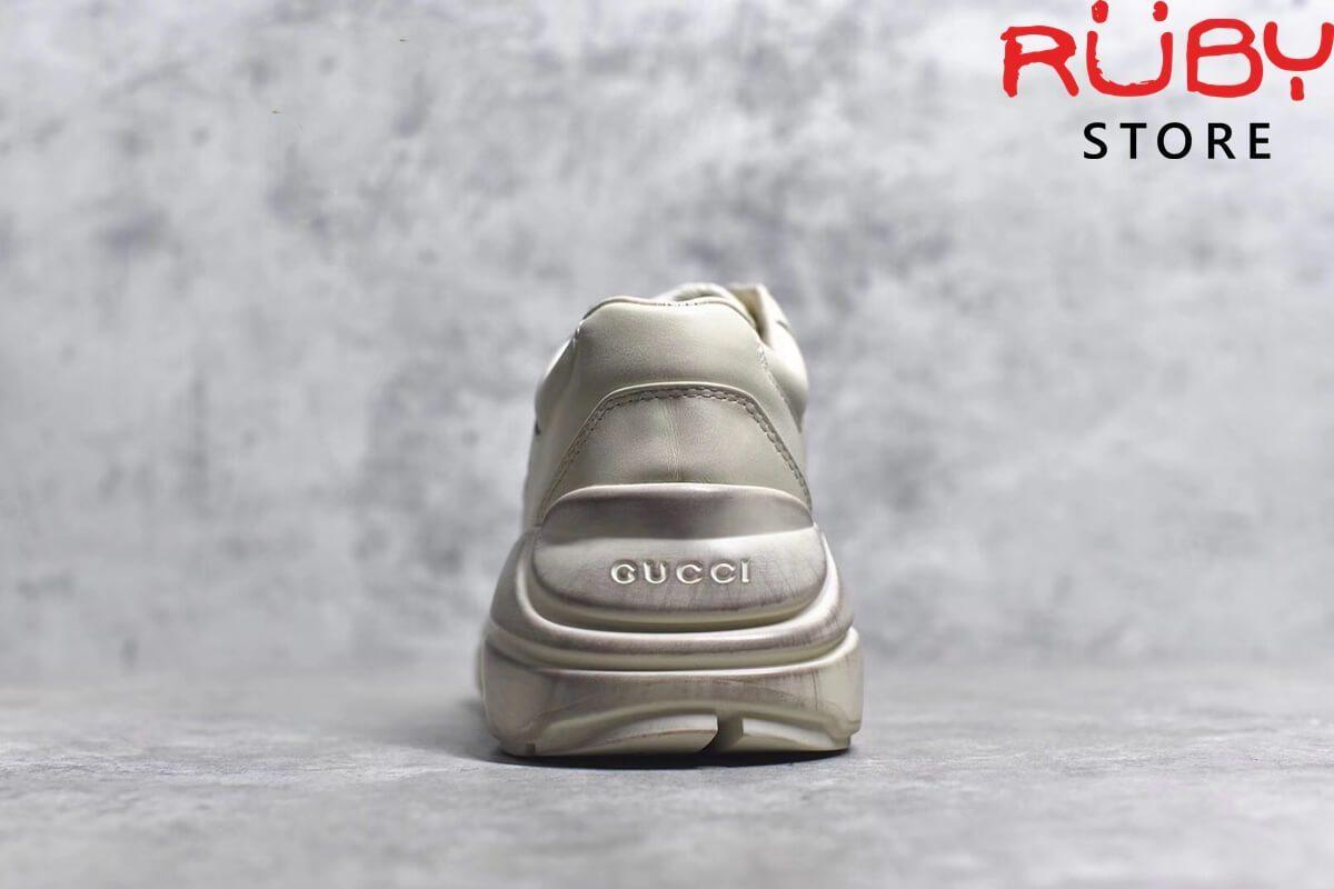 giay gucci rhyton leather sneaker siêu cấp trơn